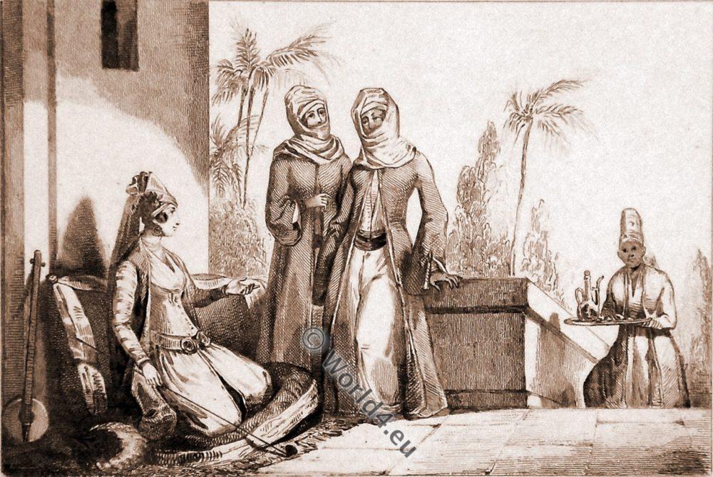 Armenian women. Historical costumes.