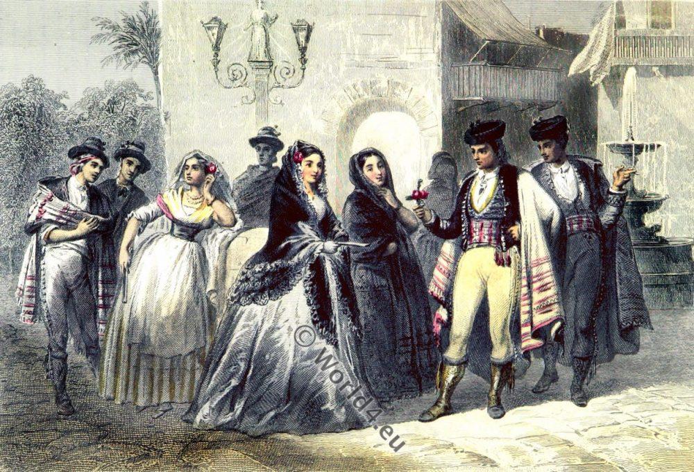 Majorca, Trajes de Mallorca, Mallorcan Costumes, Traditional, historical