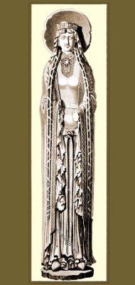 Saint Clotilde, Notre-Dame de Corbeil, 12th century