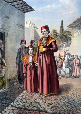 Armenian Marriage Procession, Ottoman costumes, Ottoman Empire, Historical Clothing, Turkey, Costume history