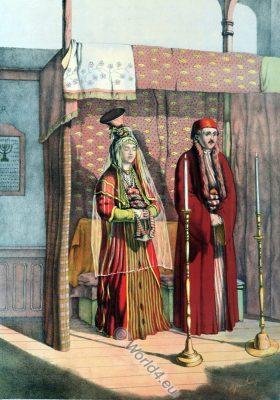 Jewish Marriage, Oriental Album, Ottoman costumes, Ottoman Empire, Historical Clothing, Turkey, Costume history