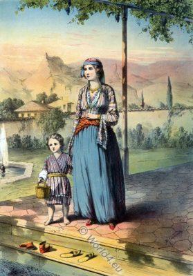 Turkish Woman, Unveiled, Oriental Album, Ottoman costumes, Ottoman Empire, Historical Clothing, Turkey, Costume history