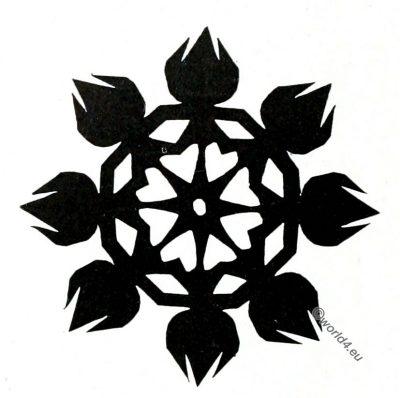Lithuania, Cut Paper Design, peasant art, Decorative arts, ornaments, Crafts