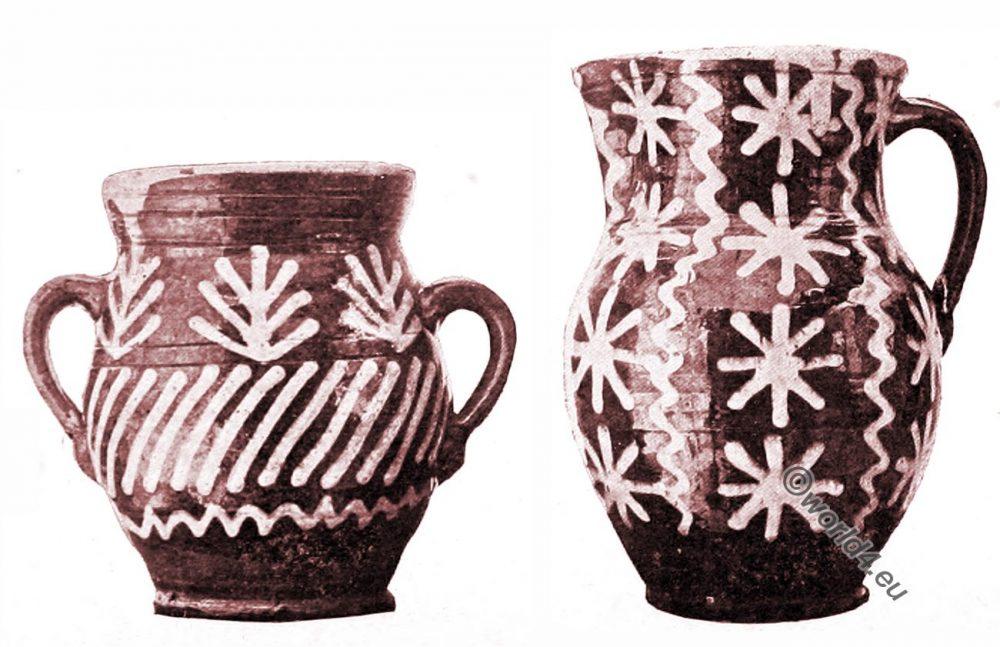 lithuania, Earthenware, Jar, Jug, peasant art, Decorative arts, ornaments, Crafts