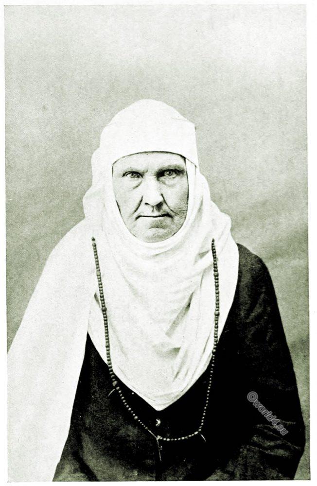 Lithuania, Linen Head-Dress, Namitka, Kovno, Kaunas, costumes, peasant art, Decorative arts,