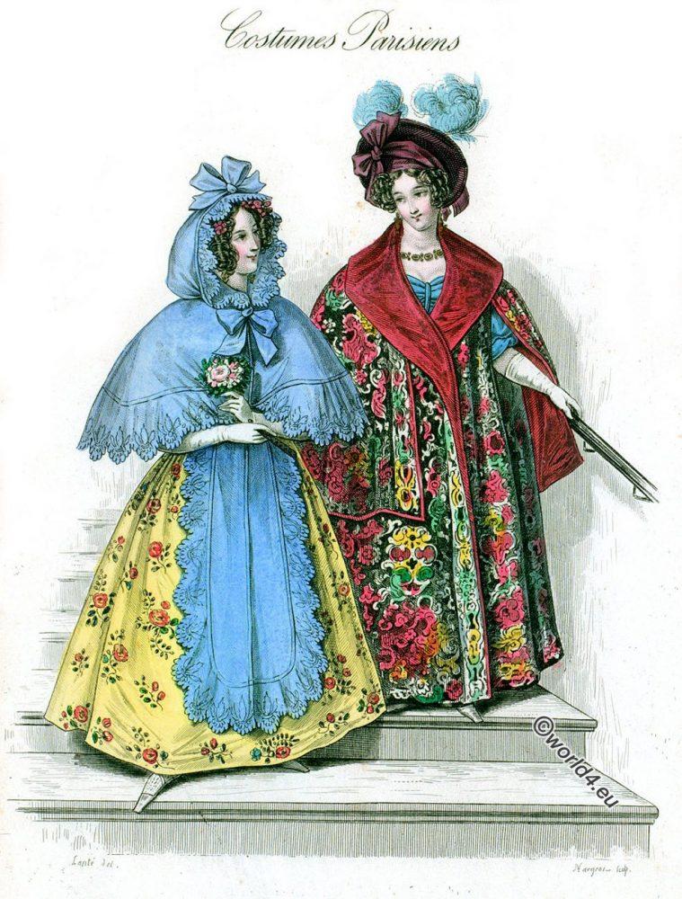Costumes, Parisiens, Romantic, fashion, Dames, Modes,