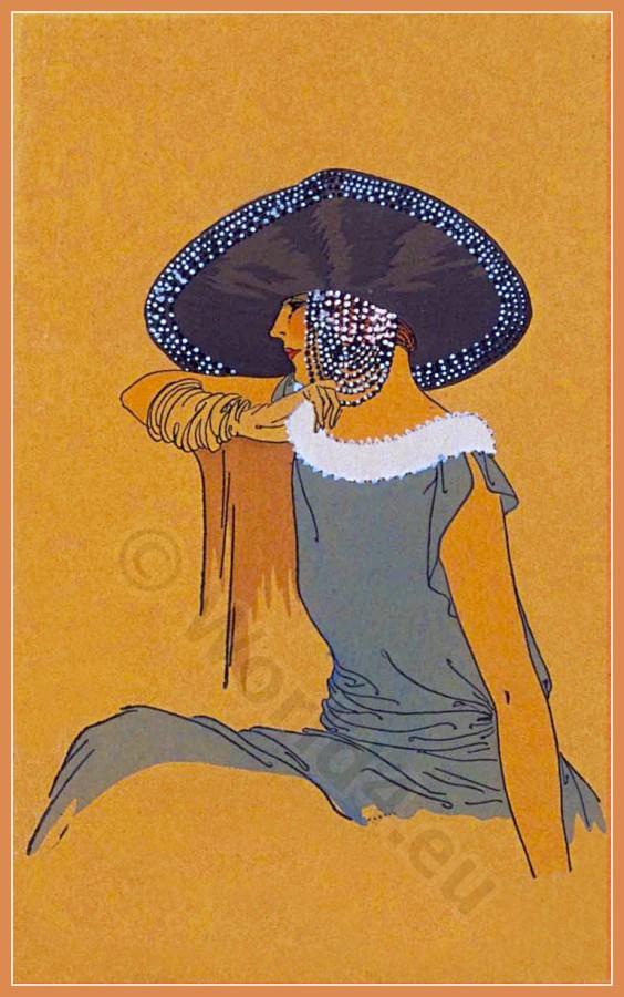 Jeanne Blanchot, Chapeaux, Parisien, art deco, fashion, mode,