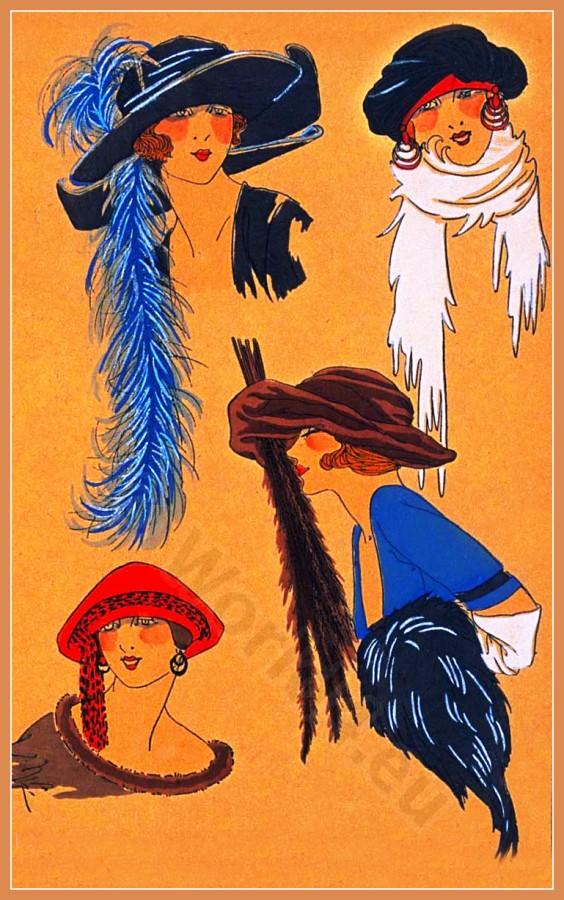 Creation Lewis, Chapeaux, Très Parisien, Art deco, Art-deco, headdress, hat, fashion
