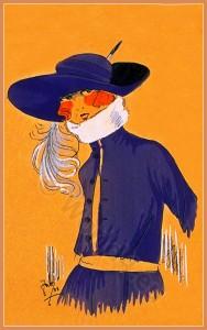 Doux Reflets. Art deco era headdresses. Cloche hats, Flapper, Gatsby fashion.