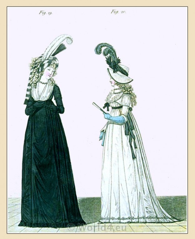 Regency, Georgian, fashion history, costume, Heideloff,