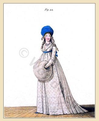 Regency, costume, Sprig muslin, Gallery, Fashion, Jane Austen,