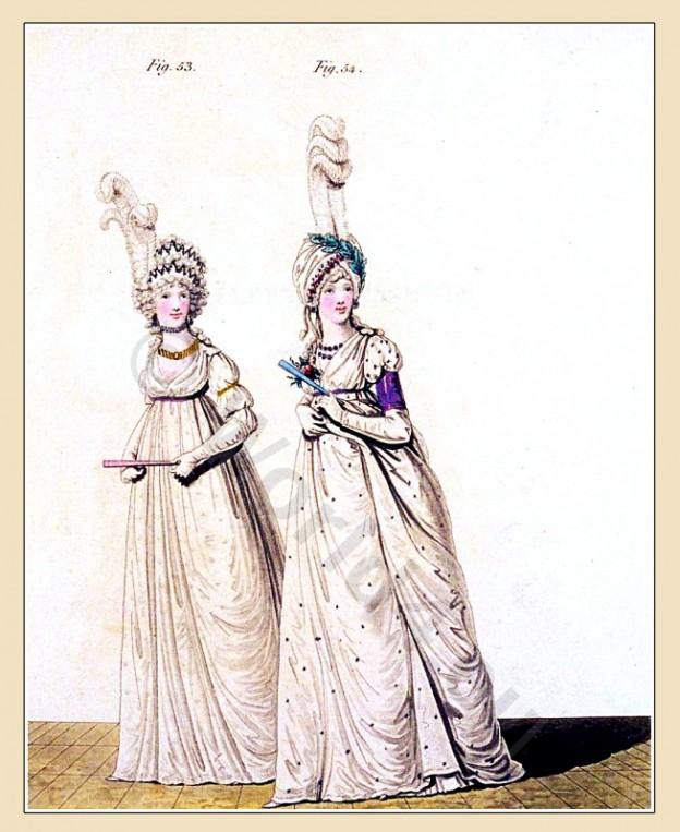 Italian gauze, Heideloff, Jane Austen, Regency, Neoclassical, Gallery, Fashion, Costumes, dresses,