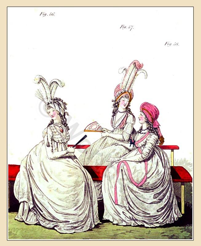 Petticoat, Chiffon, Robe, curls, Chemise, Turban, Heideloff, Jane Austen, Regency, Neoclassical, Gallery, Fashion, Costumes,