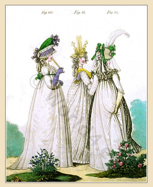 Nuns, bonnet, Brunswick, frock, Straw hat, Heideloff, Jane Austen, Regency, Neoclassical, Gallery, Fashion, Costumes,