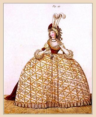 Court Dress, Beauvais, Milliner, Majesty, Heideloff, Jane Austen, Regency, Neoclassical, Gallery, Fashion, Costumes,