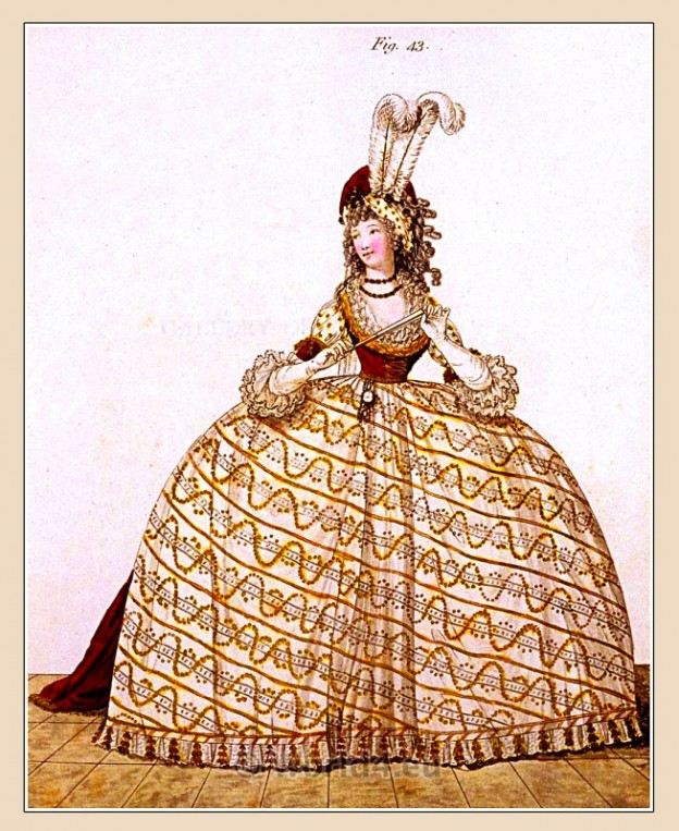 Court Dress, Beauvais, Milliner, Majesty, Heideloff, Jane Austen, Regency, Neoclassical, Gallery, Fashion, Costumes,