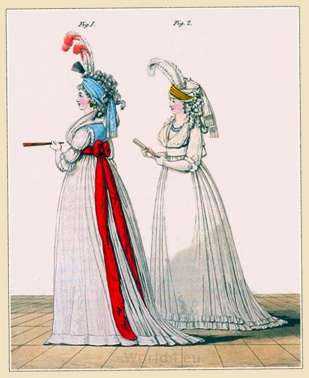 Regency, Georgian, fashion history, costume,Heideloff, Court Dress,