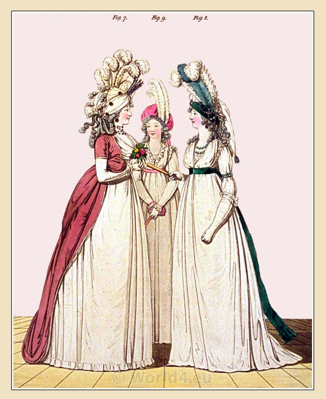 Gown, Chemise, Robe, Turban, cap, Heideloff, Jane Austen, Regency, Neoclassical, Gallery, Fashion, Costumes,