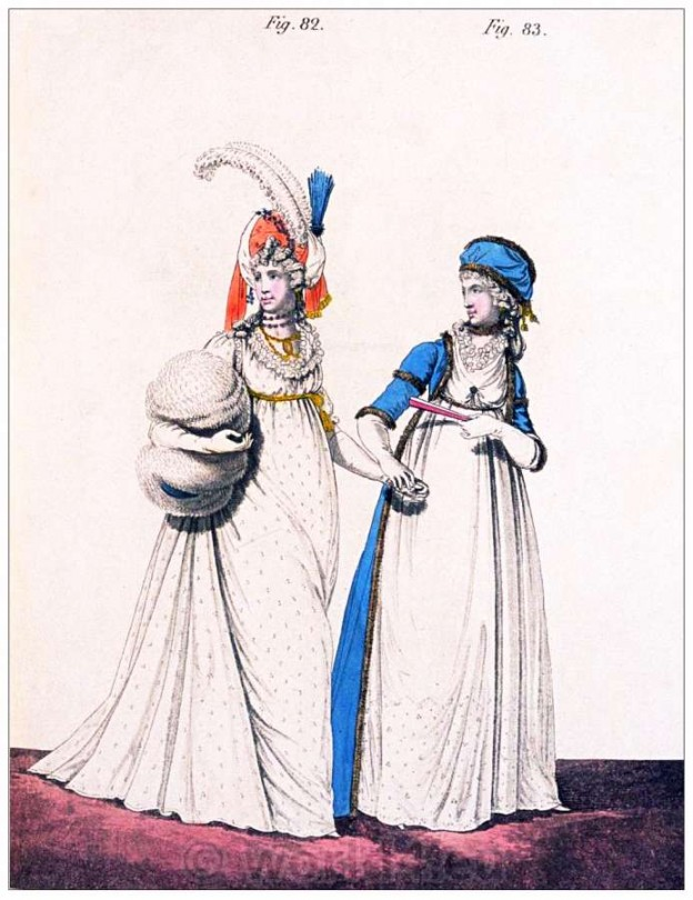 Russian, robe, Armenian, turban, Heideloff, Austen, Regency, Neoclassical, Gallery, Fashion, Costumes,