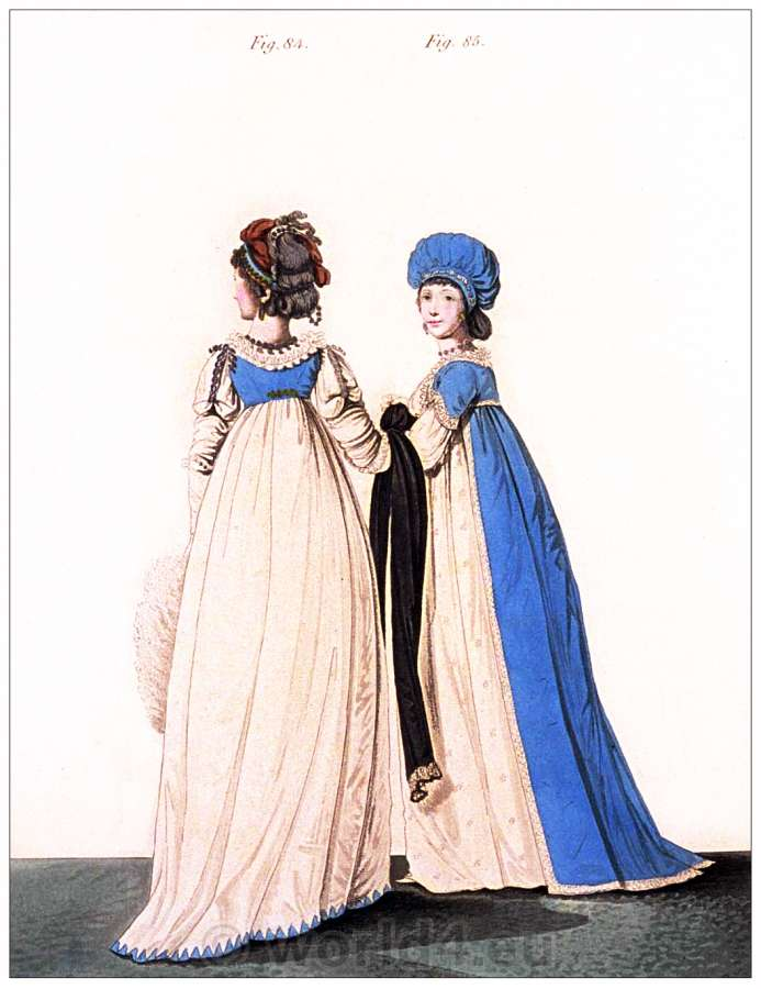 Petticoats, Heideloff, Austen, Regency, Neoclassical, Gallery, Fashion, Costumes, dressing