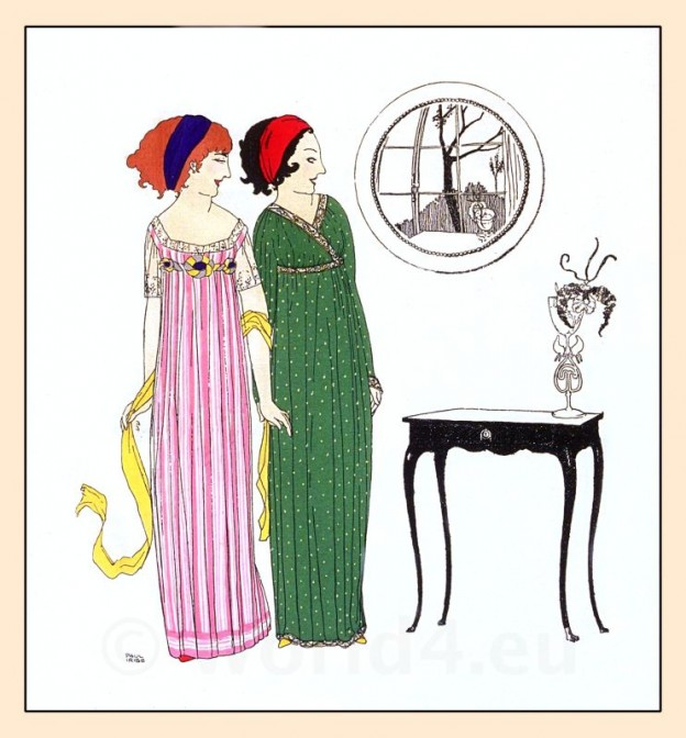 Paul Poiret, costumes, Art Nouveau, Art deco, Robes