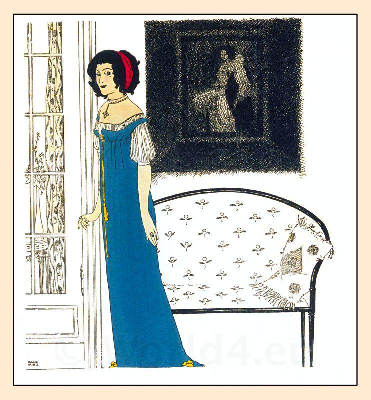 Paul Poiret, Paul Iribe. French Art Nouveau fashion costume ideas,