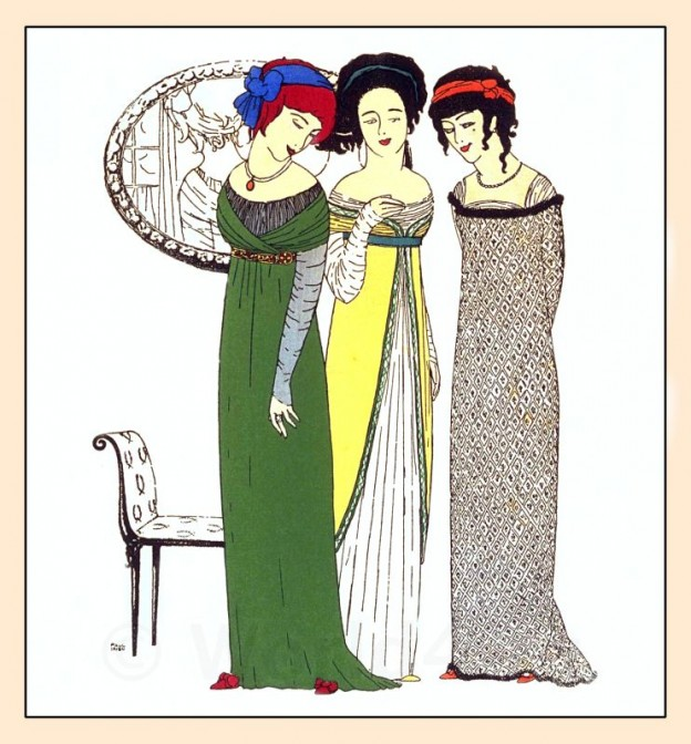 Couturier, Paul Poiret, costumes, Art Nouveau, Art deco, Robes