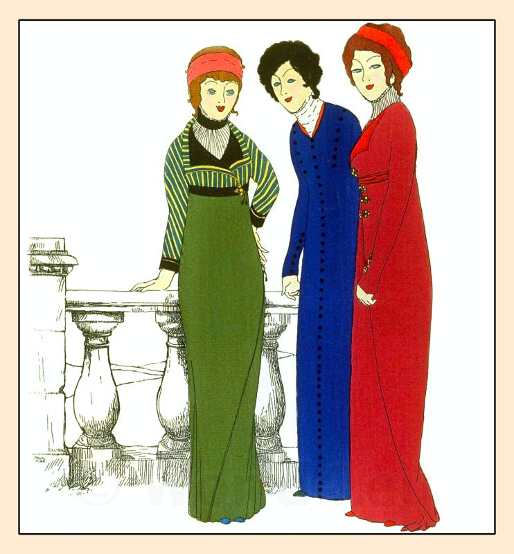 Couturier, Paul Poiret, costumes, Art Nouveau, Art deco, Robes