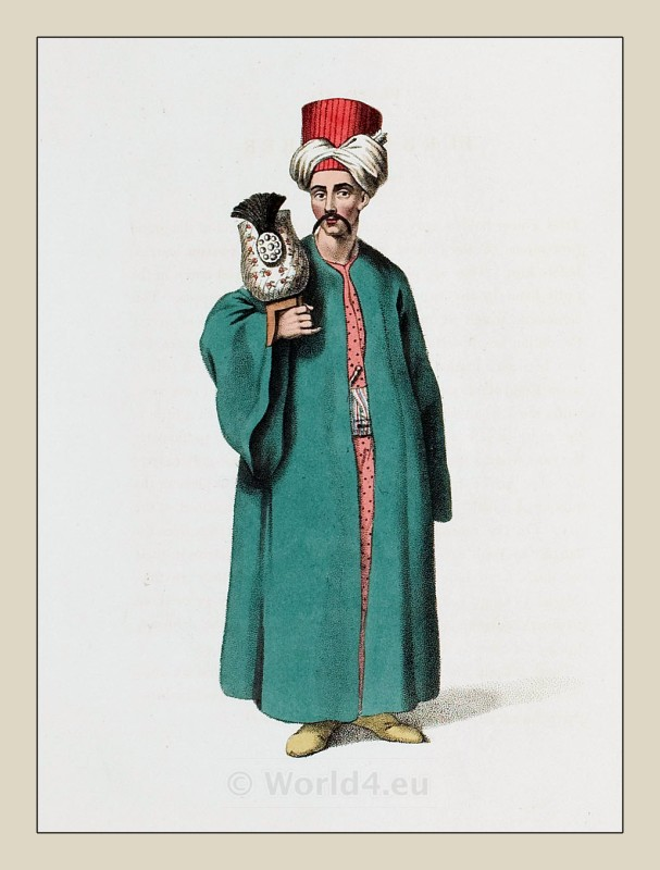 Turban, Bearer, Ottoman, Empire, costumes,