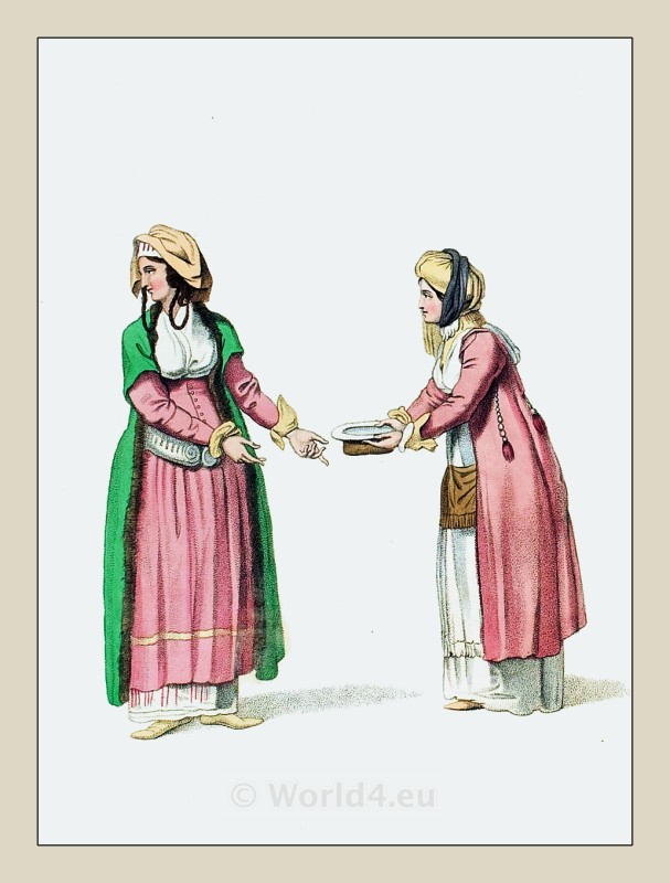 Andros, Island, Greek, national costumes,