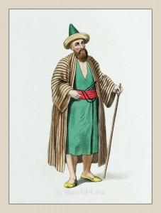 Dervish. Sufi Muslim holy men costume. Islamic religious leaders.