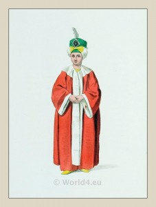 Turkish prince costume. Historical Ottoman empire costumes. Ottoman officials.