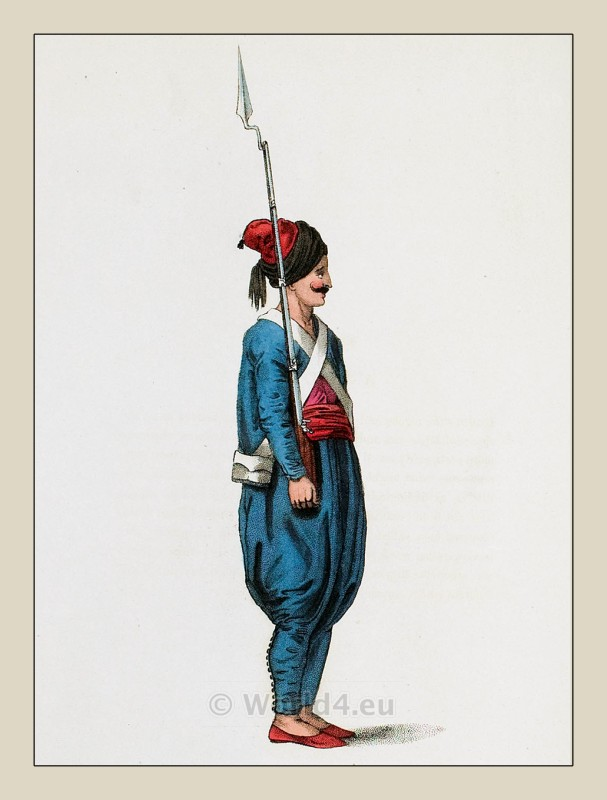 Ottoman soldier. Ottoman empire historical clothing