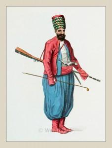 A Spahi. Ottoman Empire Cavalry. Historical Turkey Military costume.