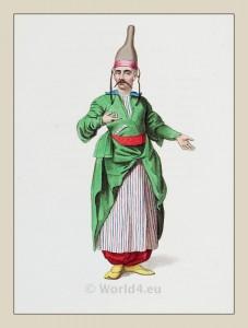 Chief confectioner. Ottoman Empire. Turkish Sultan. Historical Turkish costumes.