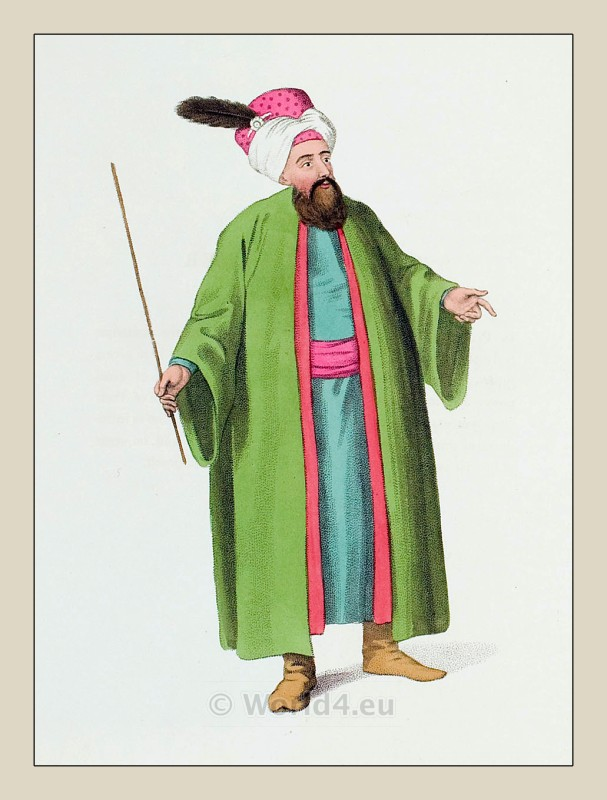 Chief Usher, Turkish, Sultan, costumes, Ottoman empire,