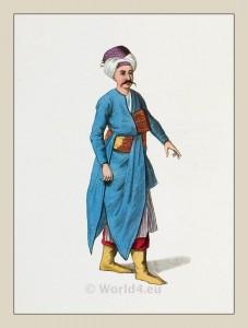 Tchocadar. Turkish servant costume. Ottoman empire clothing. Historical Turkish costumes.