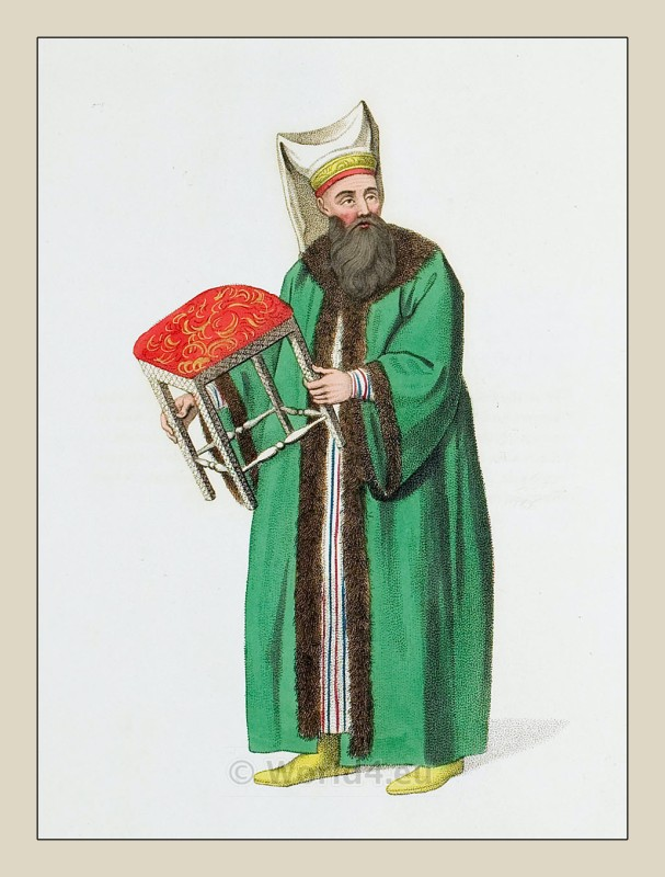Stool bearer, Ottoman empire, clothing, costume, dress