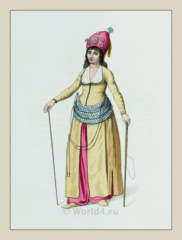 Attendant, Sultan, Harem, costumes, Ottoman, empire, clothing,