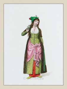Kaddin, Sultana costume.  Imperial Ottoman Harem costumes. Turkish traditional clothing.