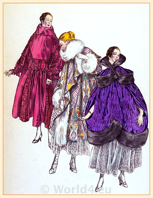 Evening Coats, Fin de siècle, fashion, haute couture, Belle Époque