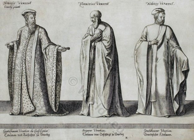 Venetian, Nobility, Nobleman, councilor, Venice, Patrician, costumes, dresses, clothing