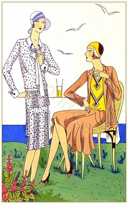 Couturier, Martial et Armand & Brandt, Art deco, costumes, Flapper, fashion, 1920s, clothing,