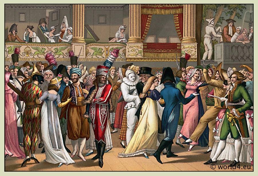 Bosio, costumes, empire, Costumed, Ball, Opera,