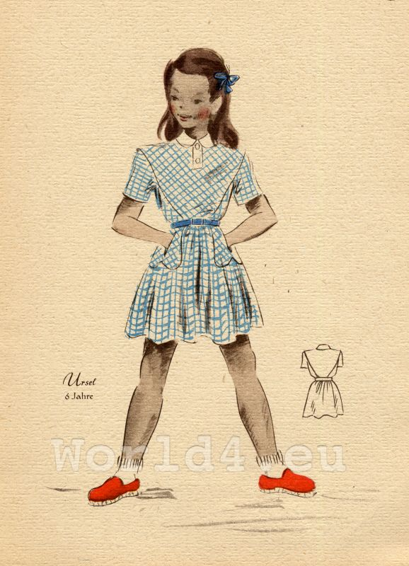 German school girl costume and hairstyle. What did Teens wear in the 1940's