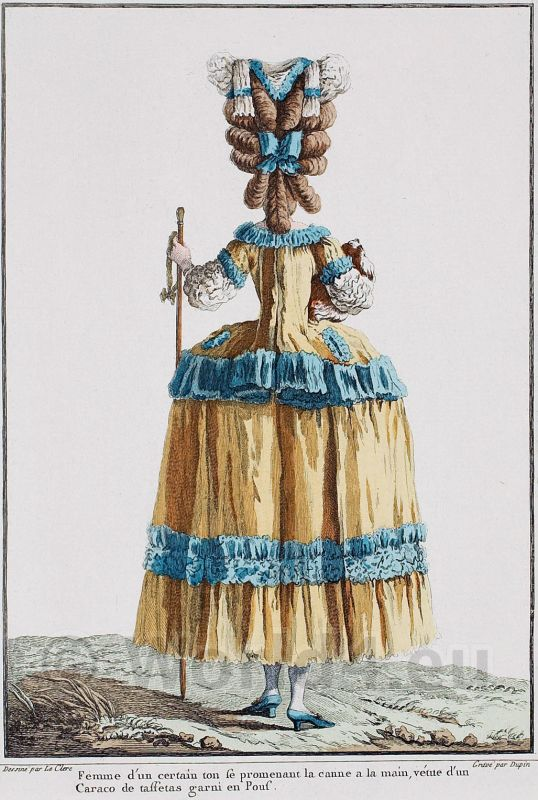 Caraco, Rococo, costumes, fashion,