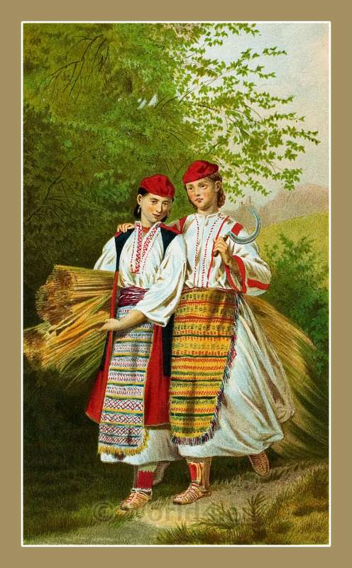 Okolica, Croatia, traditional, national costumes, Balkans, Dalmatia, Serbian