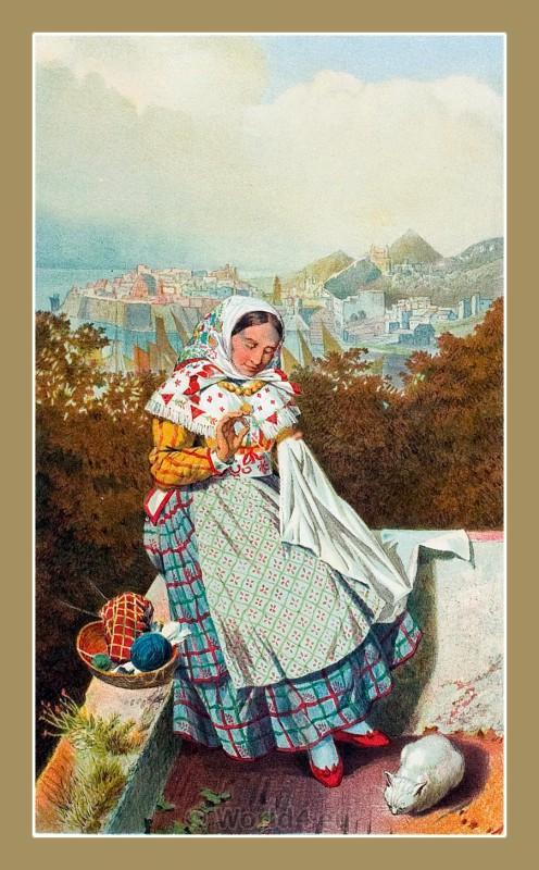 Ragusa, Dubrovnik, Croatia, traditional, national costumes, Balkans, Dalmatia, Serbian
