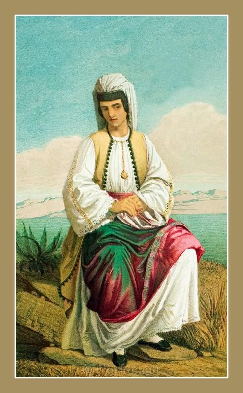 Crnogorka, Montenegro, traditional, national costumes, Dalmatia, Serbian