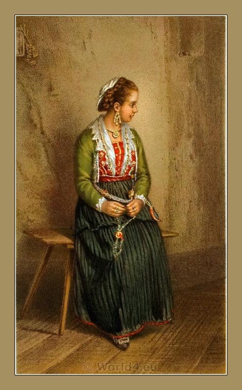 Kaštela Croatia, traditional, national costumes, Balkans, Dalmatia, Serbian
